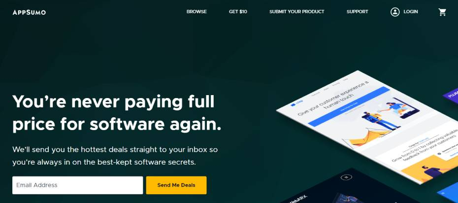 Изглед на appsumo.com - dpanov.com