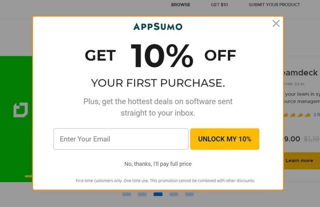 Promo Appsumo $10 - dpanov.com