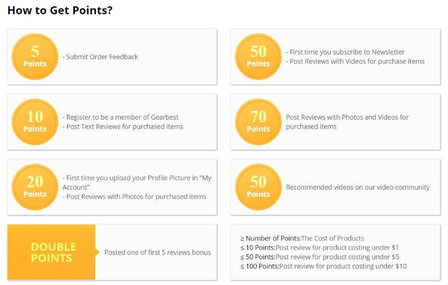 Точки за допълнителни намаления в Gearbest - dpanov.com